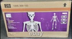 12 FT Foot Giant Skeleton Animated LCD Eyes Halloween Prop Home Depot NJ NY PA