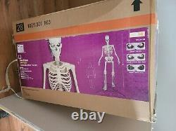 12 Ft Giant Skeleton With Animated LCD Eyes Halloween Prop Local Pickup