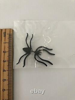 1X Gothic Halloween Black Scary Spooky Spider Bugs Party Earring Ear Stud PROP