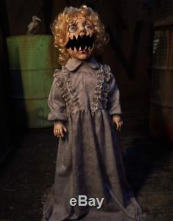2.9 Ft Abandoned Annie Animatronic Battery Operated Halloween Prop Decoration