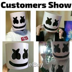 2019 NEW DJ Marshmello Mask Hard Plastic Full Helmet Cosplay Fans Prop Halloween