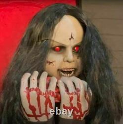 4 FT ANIMATED ROSEMARY ZOMBIE GIRL Halloween Prop HAUNTED HOUSE PRESALE