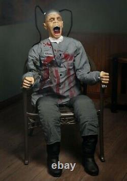 5' ANIMATED DEATH ROW PRISONER Halloween Prop HAUNTED HOUSE