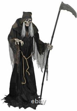 6' ANIMATED LUNGING REAPER Halloween Prop DIGITAL EYES PRESALE