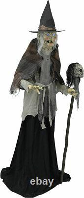 6' ANIMATED LUNGING WITCH Halloween Prop DIGITAL EYES PRESALE