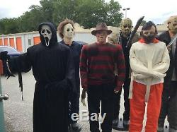 6 Different Life Size Animated Hannibal, Jason, Freddy, Ghostface, Michael