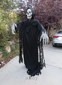 6 foot black skeleton grim reaper animated halloween decorations props