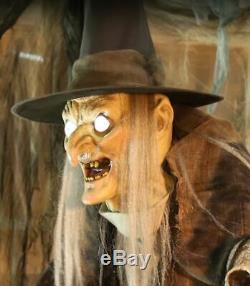 6 FT ANIMATED LUNGING HAGGARD WITCH Halloween Prop