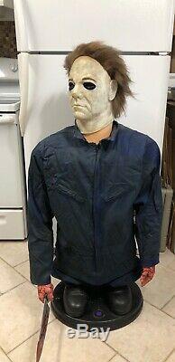6 Ft Animated Life-Size Michael Myers Prop Figure Animatronic Halloween
