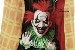 6' Life Size Evil Haunted Clown Prop Duo Animatronic Yard Decor Prop