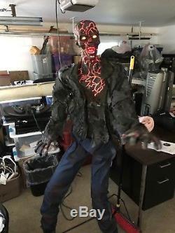6 ft Smoldering Zombie Halloween Animatronics