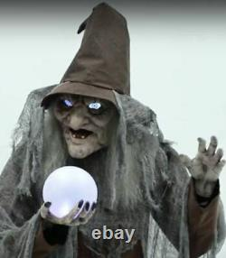 68 ANIMATED SOOTHSAYER WITCH Halloween Prop DIGITAL EYES PRESALE