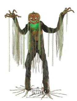 7' ANIMATED TOWERING ROOT OF EVIL Halloween Prop ROTTING HEAD