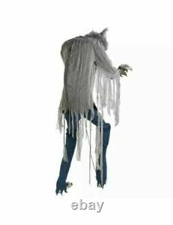 7 Ft ANIMATED TOWERING HOWLING WEREWOLF Halloween Prop HAUNTED HOUSE