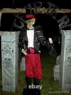 ANIMATED 6 FOOT 9 LIFE SIZE GUARDIAN of CEMETERY BATS HALLOWEEN PROP