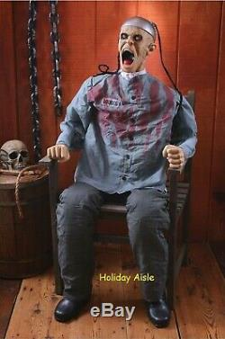 ANIMATED DEATH ROW ELECTROCUTED PRISONER Halloween Prop