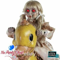 ANIMATED ROCKING DUCKY with DOLLY Halloween Horror Prop With Sound Track 6650C