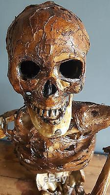 ARTIST MADE Life Size Rotting Skeleton Corpse Scary Halloween Prop Decoration