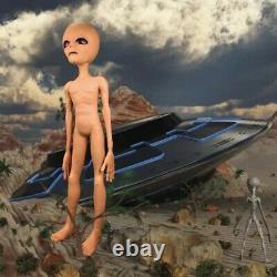 Alien Foam Filled Prop Lifesize UFO Roswell Martian Lil Mayo Area 51 Halloween