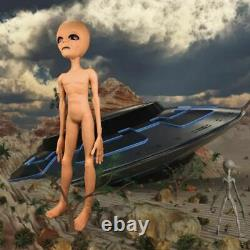 Alien Latex Prop Life Size UFO Roswell Scary Martian Area 51 For Halloween Party