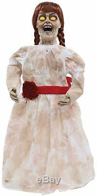 Animated Annabelle & Evil Doll Talking Haunted House Prop Grim Girl Halloween