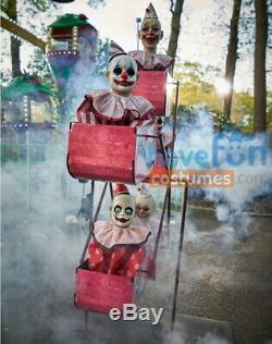 Animated CLOWN FERRIS WHEEL Prop Clowns Carnival Circus Fair Halloween Spirit