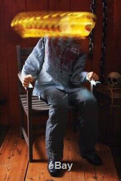 Animated Death Row Life Size Halloween Prop Haunted Decor Light Up Moves Sound