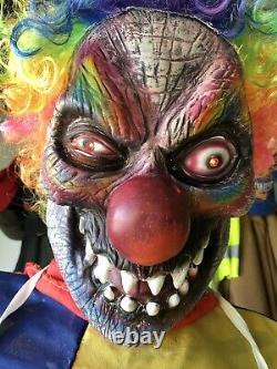 Animated Evil Clown Fitco Gemmy Spirit Halloween Prop Morbid Rare Htf Working