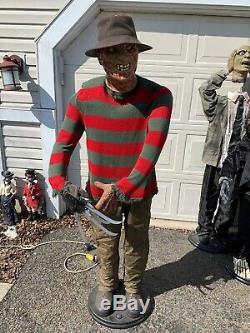 Animated Freddy Krueger, Gemmy Life Size Freddy Krueger Rare Htf See Des