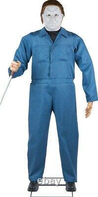 Animated Lifesize 6 Foot Michael Myers Halloween Prop Figure Awesome Decor