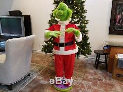 Animated Singing Grinch 5' Gemmy Working Christmas Decoration Life Size EUC