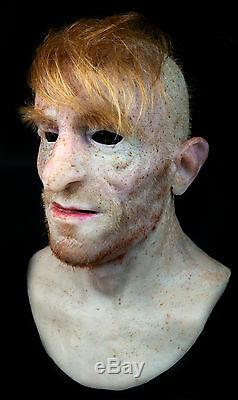 Antonio Silicone Mask Halloween Hand Made, Halloween Realistic High Quality