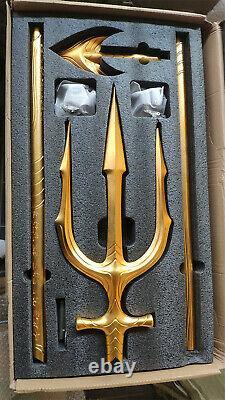 Aquaman 11 Aluminum Alloy 210cm 83inch Trident Cosplay Props Halloween Gift NEW