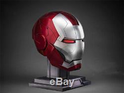AutoKing 1/1 mk5 Iron Man Helmet Voice-controlled Deformed Wearable Halloween