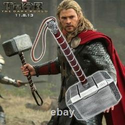 Avengers 11 Full Metal Thor Dark World Hammer Mjolnir Cosplay Halloween Prop US