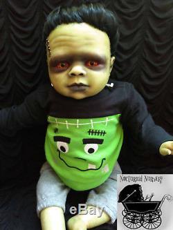Baby Frankenstein, Reborn Doll, Halloween Prop, Classic Horror Movie, Monster