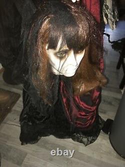 Beheaded Bride Halloween Prop Black Dress Gemmy Morbid Animatronic Rare Htf