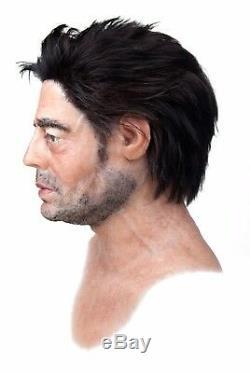 Benicio del Toro Silicone Mask Hand Made, Halloween High Quality, Realistic