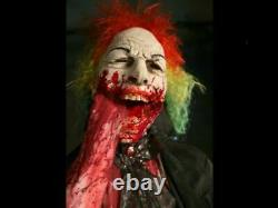 Bloody Sweet Clown Prop Animated Halloween Haunted House Circus Life Size Evil
