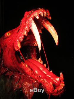 bloody zombie werewolf shoulder mount prop halloween horror vampire goth
