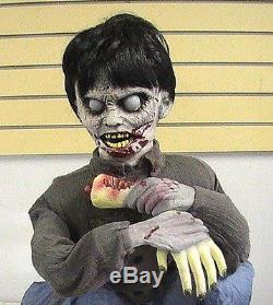 Brand New Animated Limb Eating Zombie Boy Halloween Prop