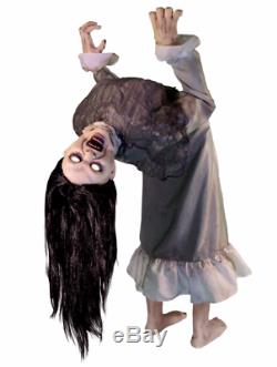 Broken Girl Spirit Halloween Animated Animatronic Lifesize Haunt Prop NEW RARE