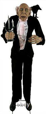 Butler Animated Lifesize 5' Prop Door Greeter Animatronic Haunted Halloween
