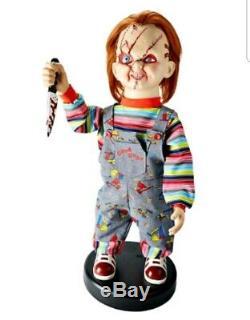 Childs Play 2 Ft Bump N Go Chucky Animatronics Doll Figure Prop NEW Halloween
