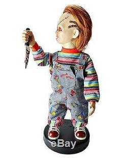 Childs Play Chucky 2 Ft Bump N Go Animatronic Roaming Talking Doll Prop NEW