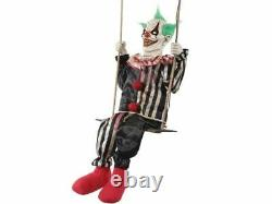Chuckles Swinging Clown Animated Haunted House Prop Halloween Carnival Circus