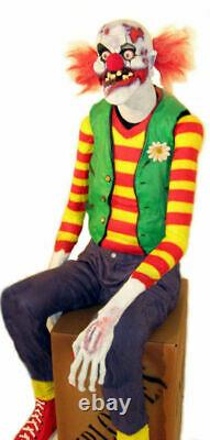 Chuckles The Zombie Clown Animated Halloween Prop Statue Decoration Party Events