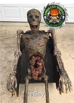 Coffin Reacher Zombie Custom Built Animatronic Halloween Jump Scare Prop O-O-A-K