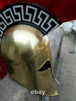 Corinthian Helmet Halloween Night Day Costume Vikings Movie Props Cosplay Armour