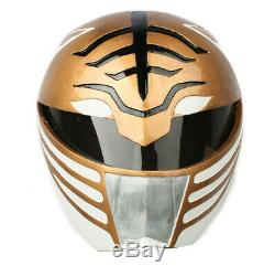 Cosplay Costume Prop White Power Rangers Helmet Mask Replica Halloween Xcoser
